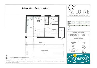 APPARTEMENT/MAISON DE VILLE-  NEUF T2 -+ TERRASSE + JARDIN +PARKING